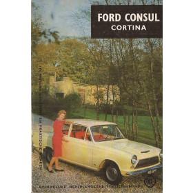 Ford Consul Cortina Technische gegevens en praktische wenken P. Bos  Benzine ANWB 64 ongebruikt   Nederlands