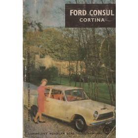 Ford Consul Cortina Technische gegevens en praktische wenken P. Bos  Benzine ANWB 64 met gebruikssporen   Nederlands