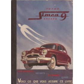 Simca Aronde Votre..   Benzine E.P.A. 57 met gebruikssporen   Frans