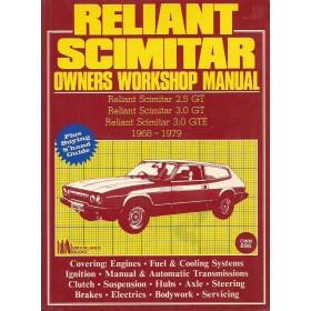 Reliant Scimitar Workshop Manual   Benzine Brookland 68-79 ongebruikt   Engels