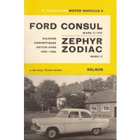 Ford Consul/Zephyr/Zodiac Motor Manual P. Olyslager Mk2 Benzine Nelson 56-62 ongebruikt   Engels