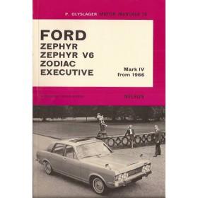 Ford Consul/Zephyr/Zephyr V6/Zodiac Motor Manual P. Olyslager Mk4 Benzine Nelson 66-68 ongebruikt   Engels