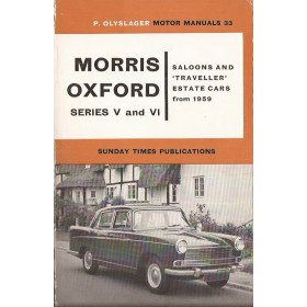 Morris Oxford Motor Manual P. Olyslager Series 5/6 Benzine Nelson 59-62 ongebruikt   Engels