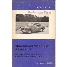 Renault 8/Gordini/Major/Caravelle Vraagbaak P. Olyslager  Benzine Kluwer 64-66 ongebruikt   Nederlands