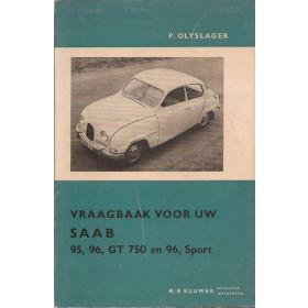 Saab 95/96 Vraagbaak P. Olving  Benzine Kluwer 63-65 ongebruikt   Nederlands