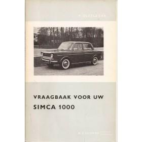 Simca 1000 Vraagbaak P. Olyslager  Benzine Kluwer 61-65 ongebruikt   Nederlands