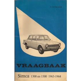 Simca 1300/1500 Vraagbaak P. Olyslager  Benzine Kluwer 63-64 met gebruikssporen lichte waterschade  Nederlands