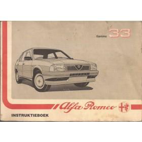 Alfa Romeo 33 Instructieboekje   Benzine Fabrikant 88 met gebruikssporen   Nederlands