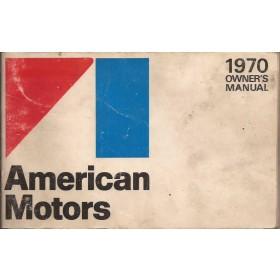 American Motors Ambassador/Rebel/Hornet/Javelin Instructieboekje   Benzine Fabrikant 70 met gebruikssporen   Engels
