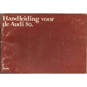 Audi 80 Instructieboekje   Benzine Fabrikant 78 met gebruikssporen kaft licht beschadigd  Nederlands