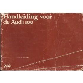 Audi 100 Instructieboekje   Benzine Fabrikant 79 met gebruikssporen vouw in kaft  Nederlands