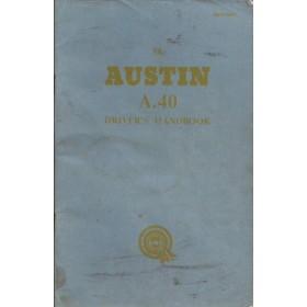 Austin A40 Instructieboekje  Mk2 Benzine Fabrikant 60 met gebruikssporen   Engels