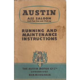 Austin A55 Instructieboekje   Benzine Fabrikant 58 met gebruikssporen   Engels