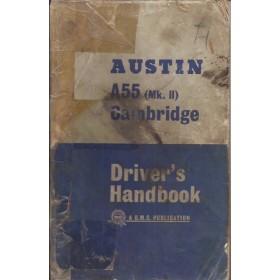 Austin A55 Cambridge Instructieboekje  Mk2 Benzine Fabrikant 64 met gebruikssporen kaft los van boekje, rug gerepareerd  Engels