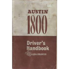 Austin 1800 Instructieboekje   Benzine Fabrikant 65 met gebruikssporen   Engels