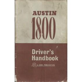 Austin 1800 Instructieboekje   Benzine Fabrikant 67 met gebruikssporen vouw in kaft  Engels