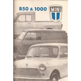 Austin Mini Instructieboekje  850/1100 Benzine Fabrikant 74 ongebruikt   Nederlands