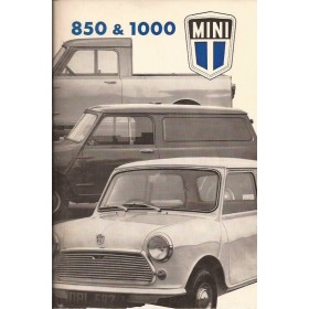 Austin Mini Instructieboekje  850/1100 Benzine Fabrikant 75 ongebruikt   Nederlands