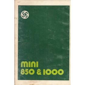 Austin Mini Instructieboekje  850/1100 Benzine Fabrikant 76 met gebruikssporen   Nederlands