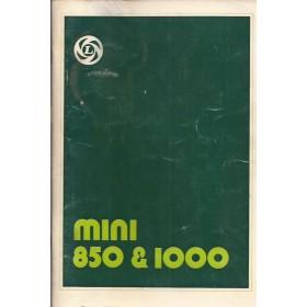 Austin Mini Instructieboekje  850/1100 Benzine Fabrikant 78 ongebruikt   Nederlands