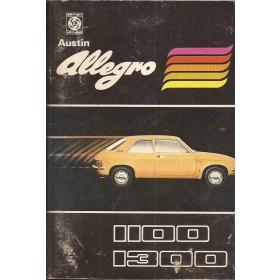 Austin Allegro Instructieboekje  1100/1300 Benzine Fabrikant 74 ongebruikt   Nederlands
