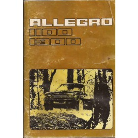 Austin Allegro Instructieboekje   Benzine Fabrikant 76 met gebruikssporen lichte vochtschade  Nederlands
