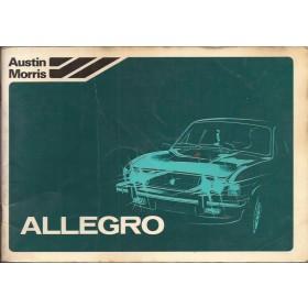 Austin Allegro Instructieboekje   Benzine Fabrikant 79 met gebruikssporen   Nederlands