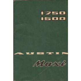 Austin Maxi Instructieboekje  1500/1750 Benzine Fabrikant 72 met gebruikssporen   Engels