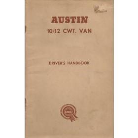 Austin 10/12-cwt van Instructieboekje   Benzine Fabrikant 62 c ongebruikt   Engels