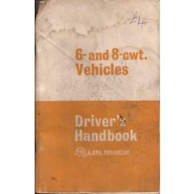 Austin 6/8-cwt (Morris Minor Van) Instructieboekje   Benzine Fabrikant 69 met gebruikssporen achterzijde deels weg, wel goed bruikbaar, lichte vochtschade  Engels