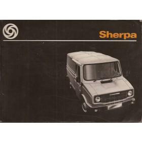 Austin Sherpa Instructieboekje   Benzine Fabrikant 78 met gebruikssporen   Engels