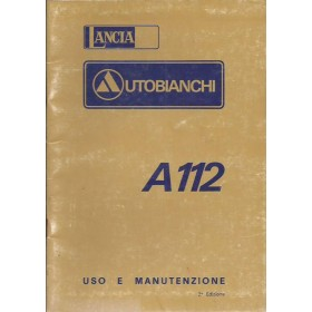 Autobianchi A112 Instructieboekje   Benzine Fabrikant 75 ongebruikt   Italiaans