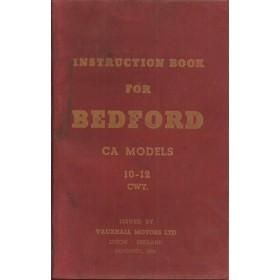 Bedford CA models (10-12 cwt) Instructieboekje   Benzine Fabrikant 54 met gebruikssporen   Engels