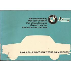 BMW 700 LS Instructieboekje   Benzine Fabrikant 63 met gebruikssporen scheurtje in rug  Engels/Frans/Duits/Italiaans/Spaans