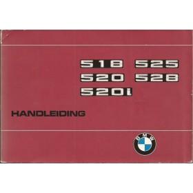 BMW 518/520i/525i/528i Instructieboekje  type E12 Benzine Fabrikant 76 met gebruikssporen   Nederlands