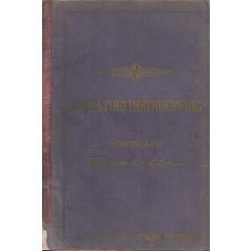 Borgward Isabella Instructieboekje   Benzine Fabrikant 54 met gebruikssporen   Engels