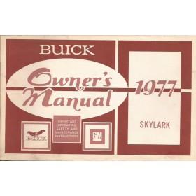 Buick Skylark Instructieboekje   Benzine Fabrikant 77 met gebruikssporen inclusief inlegvellen  Engels