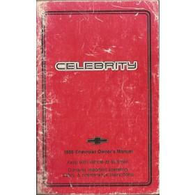 Chevrolet Celebrity Instructieboekje   Benzine Fabrikant 86 met gebruikssporen   Engels