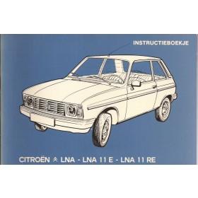 Citroen LNA Instructieboekje   Benzine Fabrikant 83 ongebruikt   Nederlands