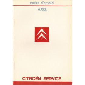 Citroen Axel Instructieboekje   Benzine Fabrikant 85 ongebruikt   Frans