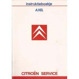 Citroen Axel Instructieboekje   Benzine Fabrikant 86 ongebruikt   Nederlands