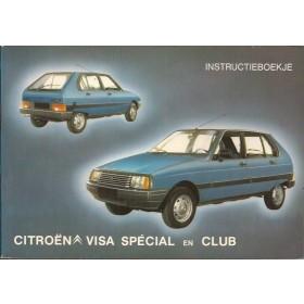 Citroen Visa Instructieboekje  Special/Club Benzine Fabrikant 81 met gebruikssporen   Nederlands