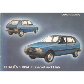 Citroen Visa Instructieboekje  Special/Club Benzine Fabrikant 82 ongebruikt   Engels
