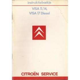Citroen Visa/C15 Instructieboekje   Benzine/Diesel Fabrikant 85 met gebruikssporen lichte vochtschade  Nederlands
