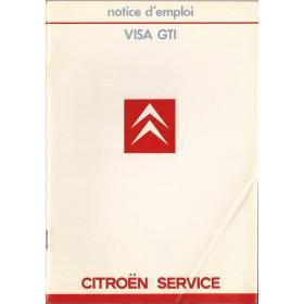 Citroen Visa Instructieboekje  Gti Benzine Fabrikant 85 ongebruikt   Frans