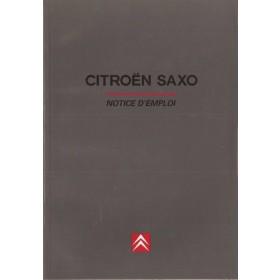 Citroen Saxo Instructieboekje   Benzine/Diesel Fabrikant 97 ongebruikt   Frans