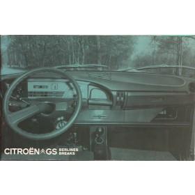Citroen GS Instructieboekje   Benzine Fabrikant 73 met gebruikssporen   Nederlands