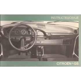 Citroen GS Instructieboekje   Benzine Fabrikant 76 met gebruikssporen   Nederlands