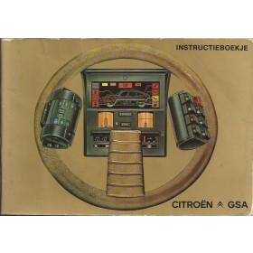 Citroen GSA Instructieboekje   Benzine Fabrikant 81 met gebruikssporen   Nederlands