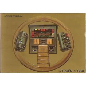 Citroen GSA Instructieboekje   Benzine Fabrikant 81 met gebruikssporen   Frans